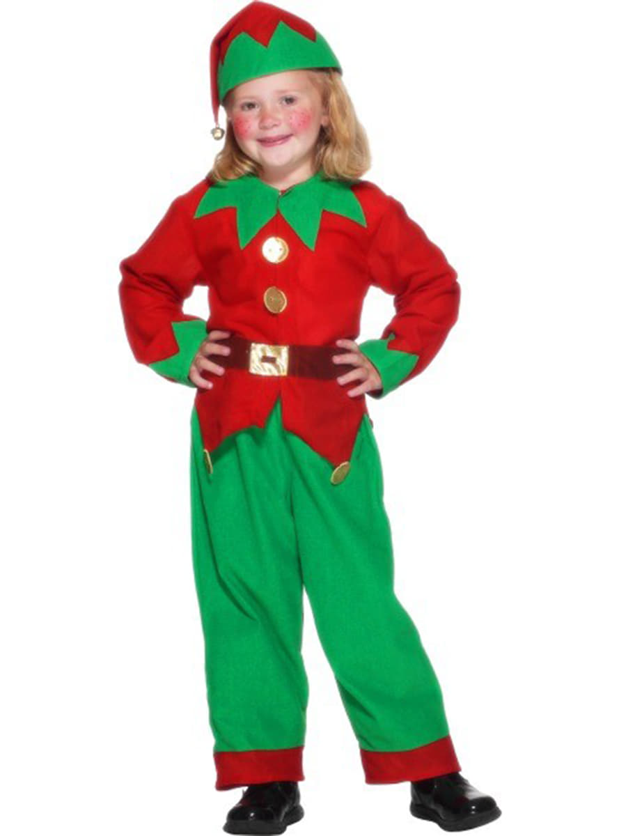 Green & Red Elf Toddler Costume: buy online at Funidelia.