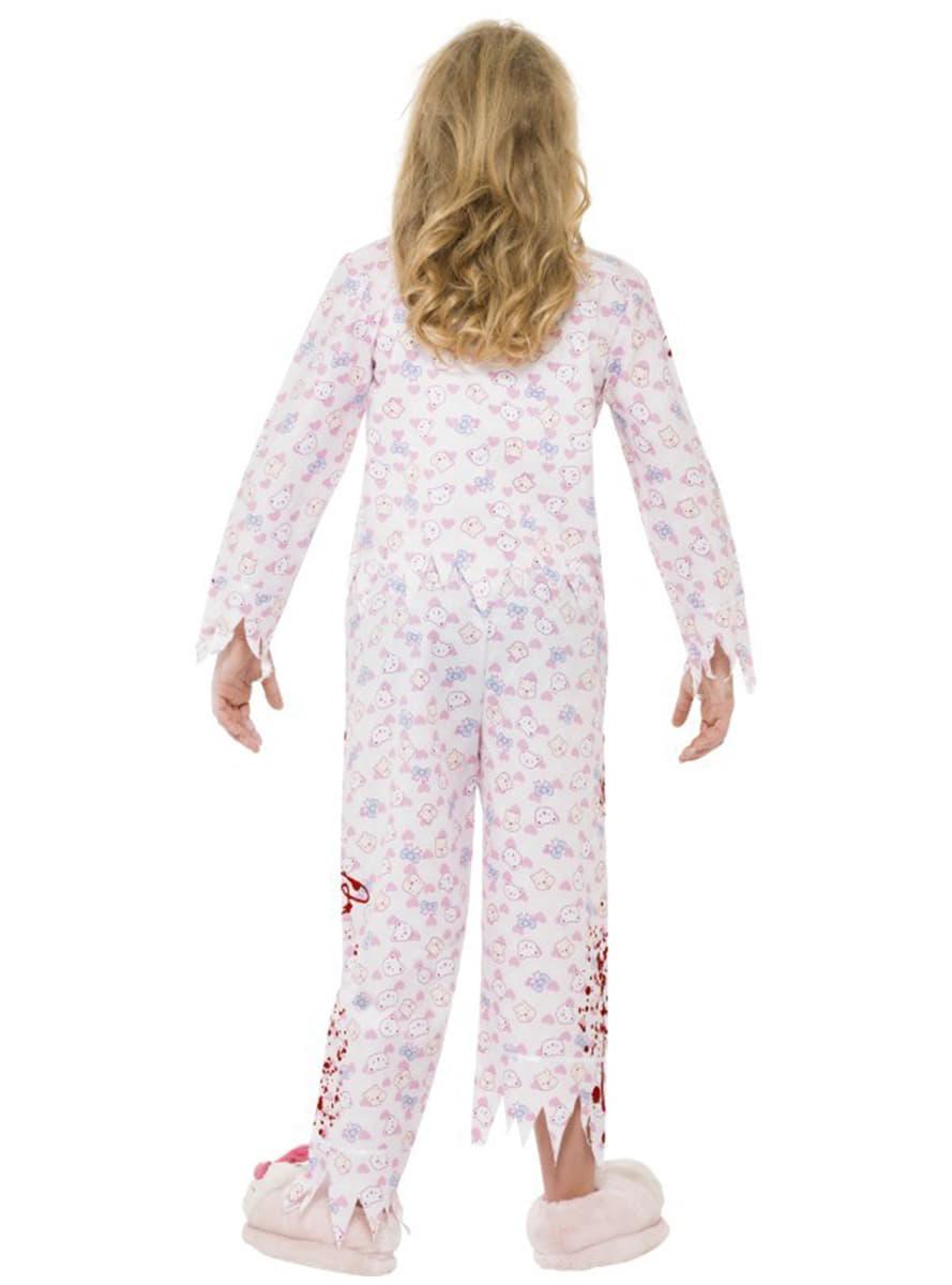 disfraz chica zombie en pijama para nia