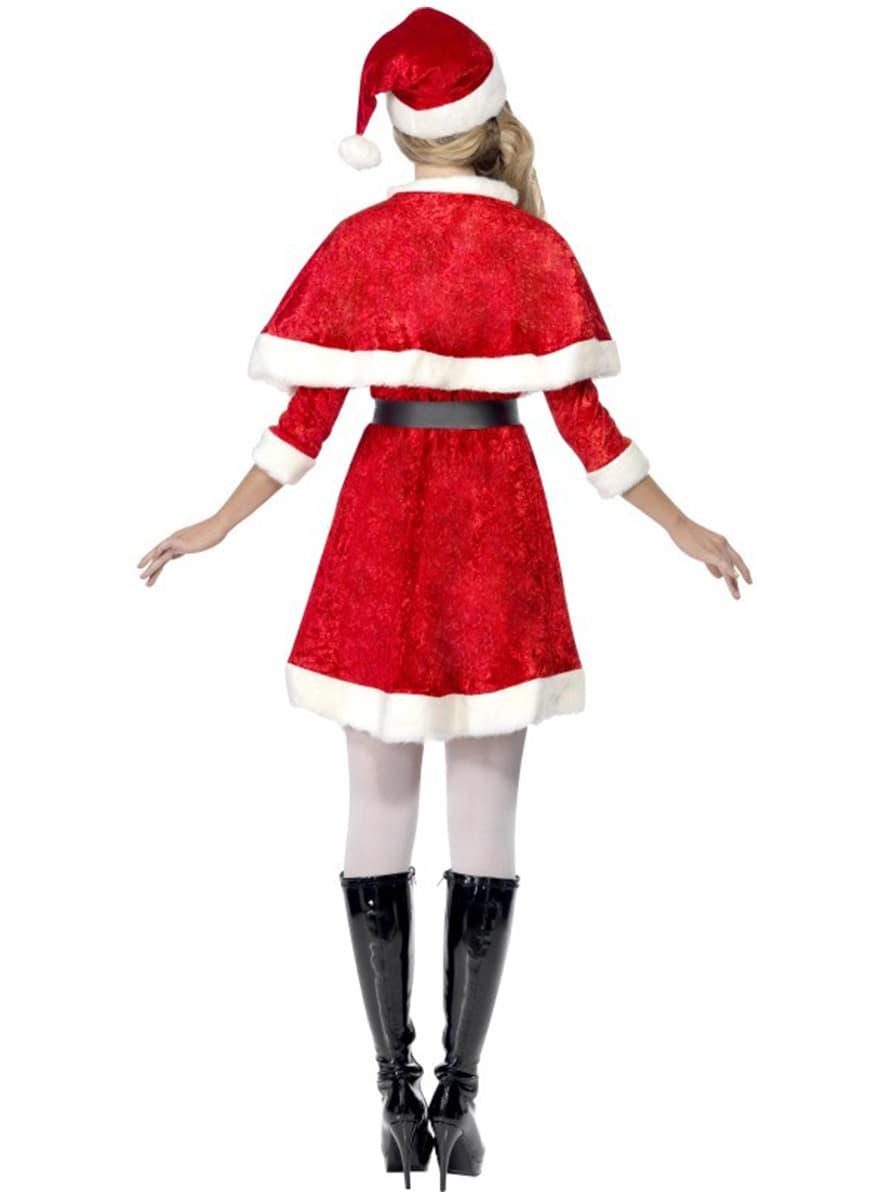 weihnachtsfrau kost m mit umhang. Black Bedroom Furniture Sets. Home Design Ideas