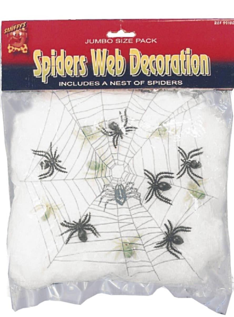 D coration de toile d 39 araign e avec des araign es pour for Toile d araignee decoration