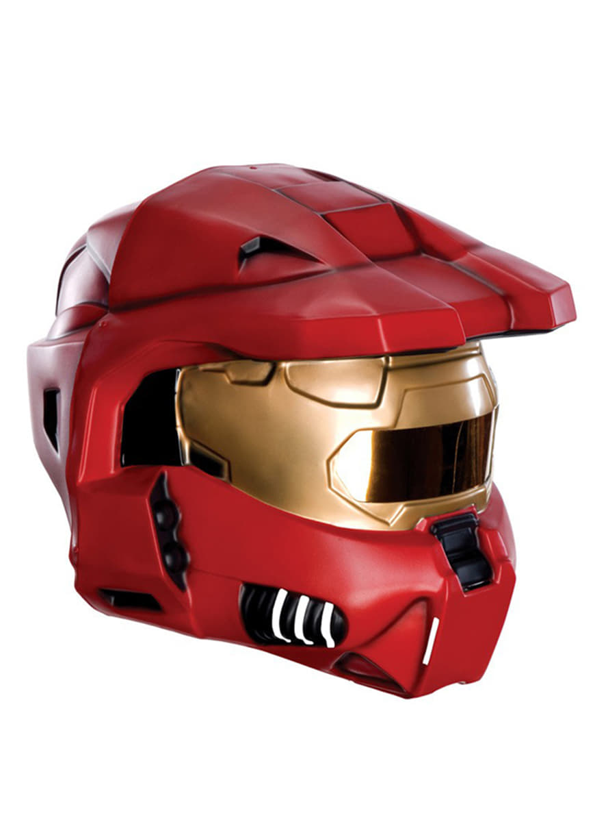 Red Spartan Halo helmet for an adult