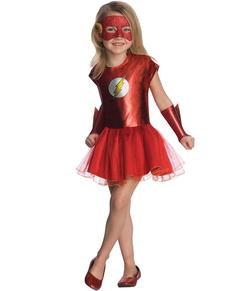 disfraz de flash dc comics tut para nia