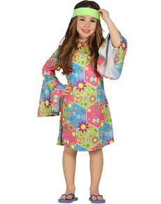 disfraz de hippie multicolor para nia