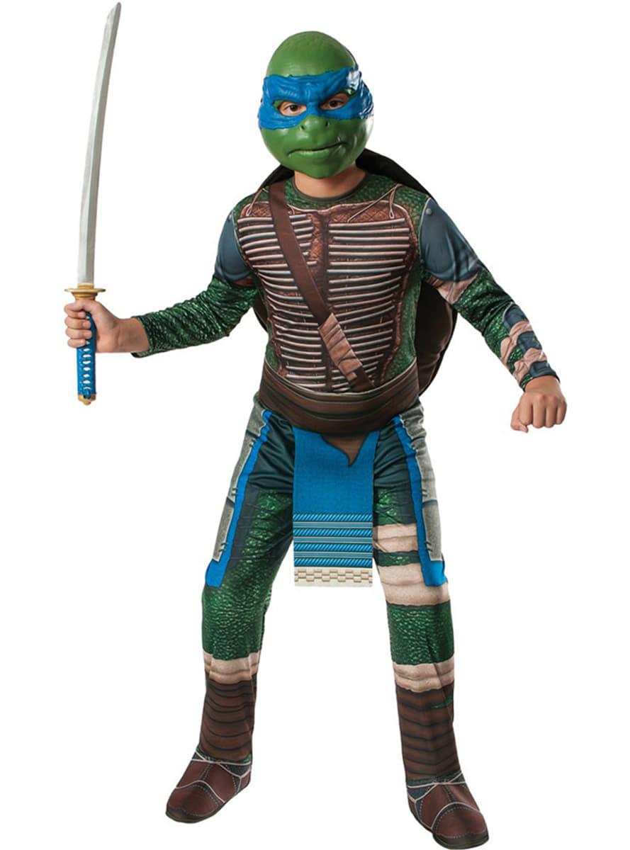 Costume de leonardo tortues ninja movie pour enfant for Repere des tortue ninja