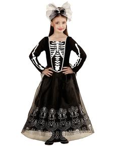disfraz de dama esqueleto para nia