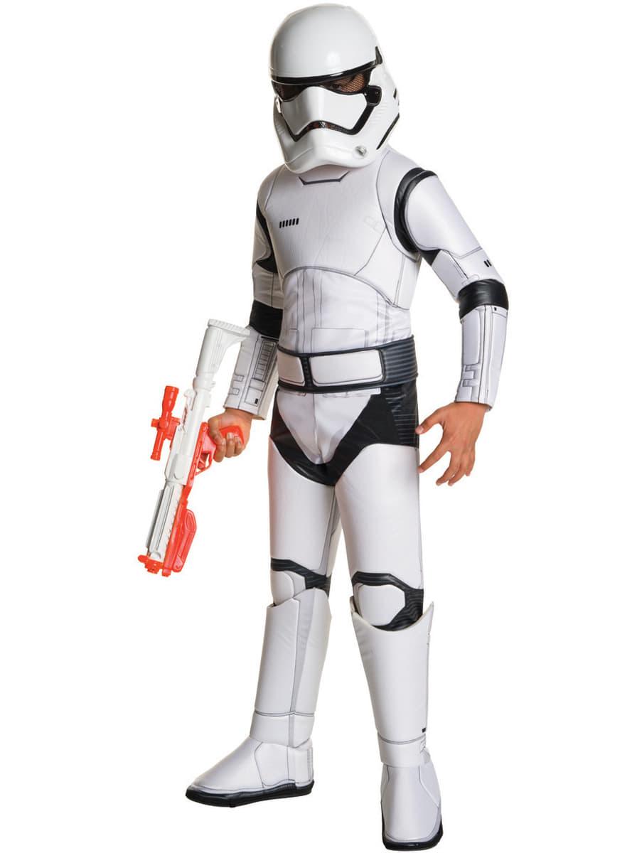 stormtrooper kost m deluxe f r jungen star wars episode 7. Black Bedroom Furniture Sets. Home Design Ideas