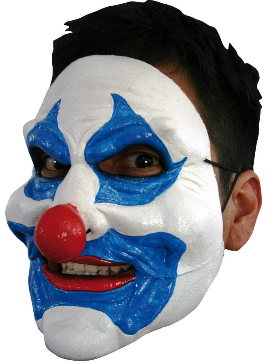 Huge Chin Blue Clown Halloween Mask: buy online at Funidelia.