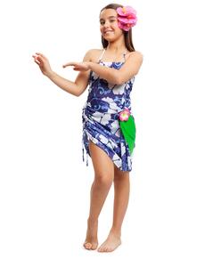 disfraz de hawaiana tropical para nia