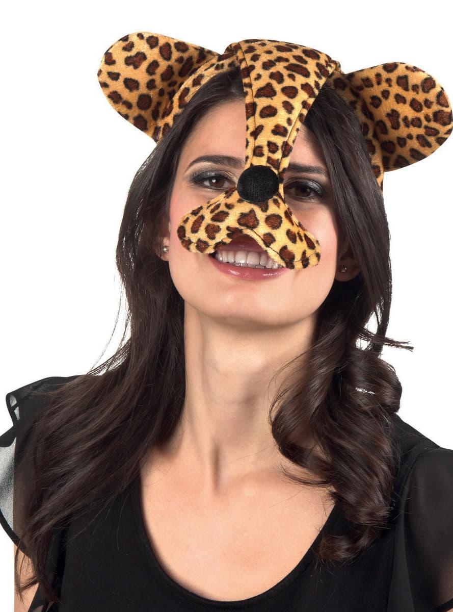 Orecchie e naso da ghepardo per donna per il tuo costume for Una decorazione e formata da cinque rombi simili