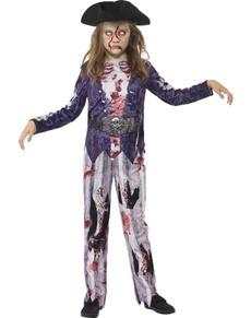 disfraz de pirata zombie para nia
