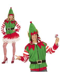 chaqueta de elfo navideo para adulto