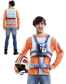 Camiseta hiperrealista de Luke Skywalker para adulto